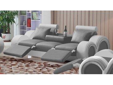 Canapé design 3 places relax en cuir - Carlson - Simili cuir