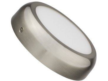 Plafonnier LED Rond Design 12W Silver