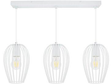 Lampe Suspendue Telmi 3 Spots Blanc