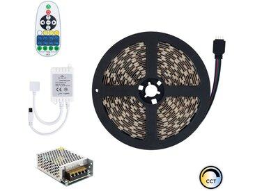 Kit Ruban LED 12V DC SMD5050 60LED/m 5m CCT Sélectionnable IP20 avec Bloc d'Alimentation et Contrôleur