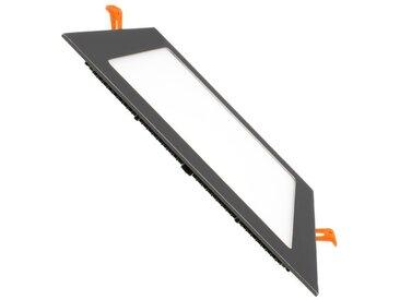 Dalle LED Carrée Extra Plate LED 18W Cadre Noir