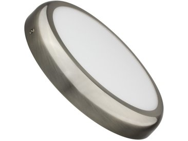 Plafonnier LED Rond Design 24W Silver