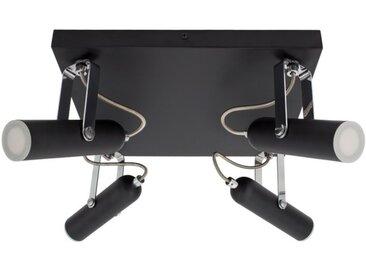 Lampe LED Plafond Orientable Bari 4 Spots 16W Noir