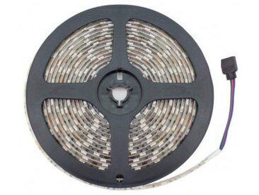 Kit Ruban LED 24V DC SMD5050 60LED/m 5m RGB IP65 avec Bloc d'Alimentation et Con