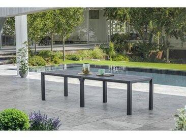 Table de Jardin coloris graphite - finition bois - ALLIBERT BY KETER  modulable - 8 - 10 personnes - JULIE