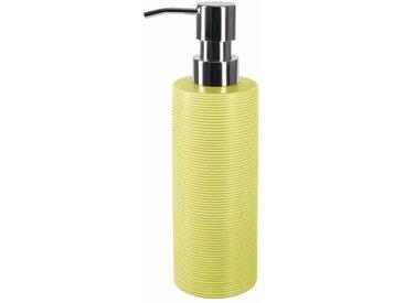 TUBE Distributeur de savon Grès - 21,5x6x6 cm - Pistache