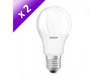 OSRAM Lot de 2 Ampoules LED GlowDim E27 10 W équivalent à 60 W blanc ultra chaud dimmable variateur