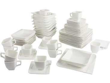 T1810505-60X - Service de table 60 pièces Aquarelle - Porcelaine - Ultra blanc