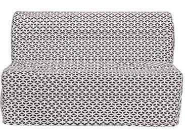 JOE Banquette BZ GEOMETRICO - Tissu noir et blanc - L 143 x P 101 x H 95 cm