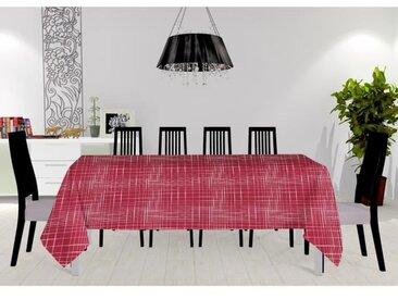SOLEIL D'OCRE Nappe toile cirée Burny - 160x240 cm - Rouge