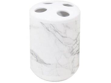 Gobelet porte-brosse effet marbre - Céramique