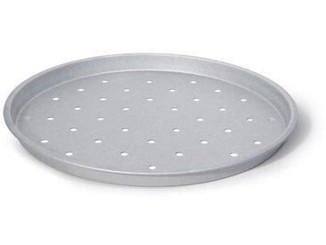 IMF Plaque à pizza perforée en acier aluminé Steel - Ø 31 cm - Gris