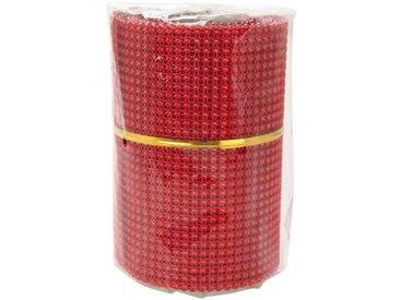 Chemin de table perle 8x2 m rouge