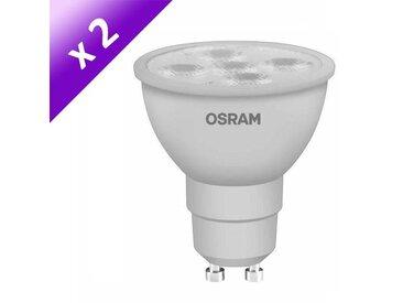 OSRAM Lot de 2 Ampoules spot LED GlowDim GU10 6 W équivalent à 50 W dimmable variateur blanc chaud