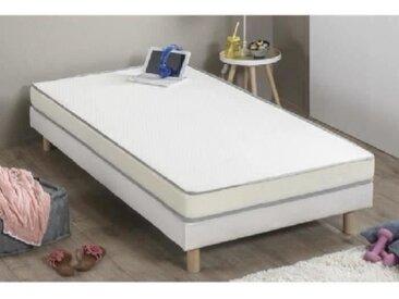 Matelas mousse 90 x 190 - Confort ferme - Epaisseur 10 cm - Fabrication européenne - FINLANDEK Huopa
