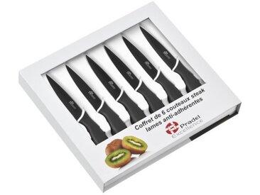 PRADEL EXCELLENCE Coffret de 6 couteaux à steak CC006N lame 10cm noir