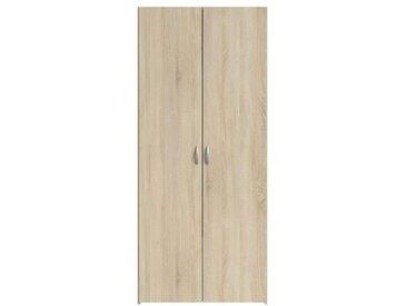 VARIA Armoire 2 portes décor chêne L81 cm