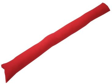 Boudin de porte 100% coton uni - 90x10 cm - Rouge