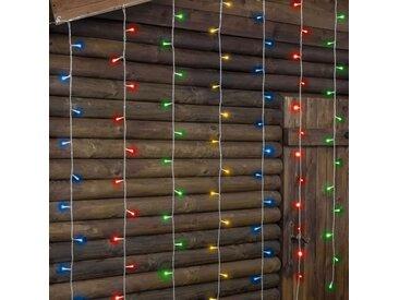 LOTTI Rideau lumineux 182 LED 5 mm - Multicolore - Contrôleur 7 jeux de lumière + 1 fixe - L 300 x H 152 cm