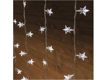 LOTTI Stalactite - 94 étoiles et LED - Blanc froid - 7 jeux lumière - L 300 cm x H 80 cm
