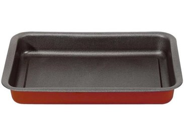 IMF Plat à four sans rebord Rioja - 29 x 21 x 3,5 cm - Rouge et gris
