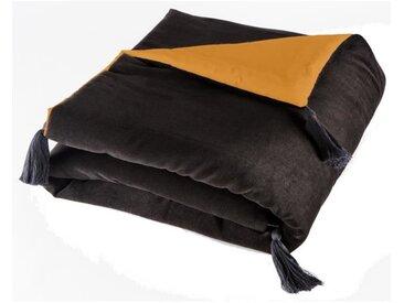 TODAY Edredon Velvet Carnet de Voyage - 100% coton - 120 x 160 cm - Orange terracotta