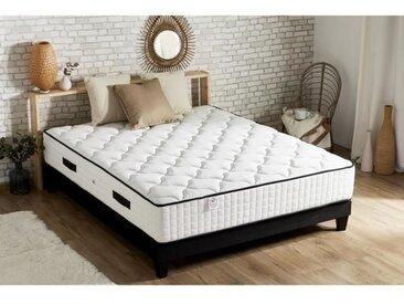 CONFORT DESIGN Matelas Ressorts 140x190cm - 7 zones - 30cm - Très Ferme - Hotel grand confort