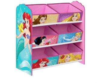 DISNEY PRINCESSES - Meuble de rangement pour chambre d'enfant avec 6 bacs