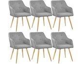 Lot de 6 chaises style scandinave TANJA - gris