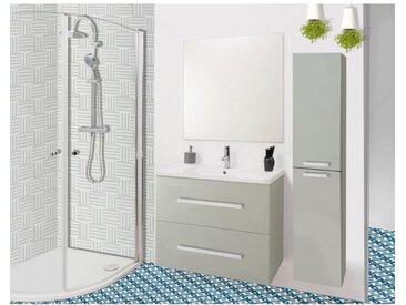 NUEVO Salle de bain complète simple vasque L 60 cm- Taupe laqué