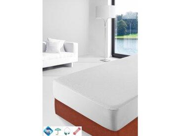 STIPI Protège-matelas PE Sanitized Imperméable 100% Coton 140x190 cm blanc