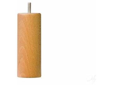 Ensemble de 4 pieds de lit cylindrique - Vernis bois naturel  - D5,4 cm H 15 cm