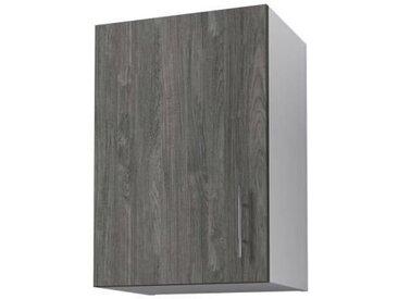 OBI Meuble haut de cuisine L 40 cm - Décor teck marine et blanc