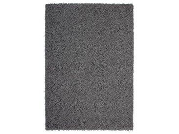 TRENDY Tapis de couloir Shaggy en polypropylène - 80 x 140 cm - Gris anthracite