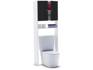 CORAIL Meuble WC ou machine à laver L 63 cm - Noir laqué  mwcnoir
