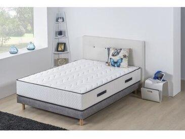 HOTEL SEASONS Ensemble matelas + sommier 140x190 cm - Mousse haute densité - 25 cm - 5 zones - DEKO DREAM