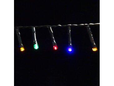 Guirlande lumineuse LED de Noël Snake light - Fonctionnant sur batterie - IP44 - 7,40m - Multicolore - LUCA LIGHTING