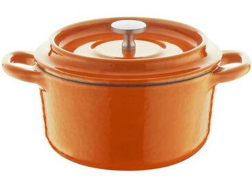 BERNDES Cocotte à rôtir avec couvercle Specials Fonte - Ø 10 cm - Orange