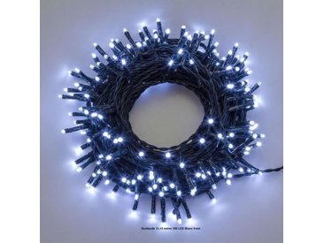 LOTTI Guirlande lumineuse TLG - 13,1 m - 180 LED blanc froid - Avec contrôleur