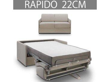 COLOSSE Canapé lit RAPIDO Inside75 - Epaisseur 22 cm - Velours pastel gris sylver