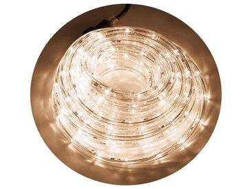 Tube lumineux extérieur - 192 LED blanc chaud - 8 m - Connectable - 24 flashs crépitant
