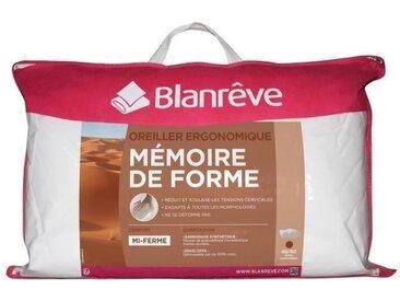 BLANREVE Oreiller Ergo à Mémoire de Forme 40x60