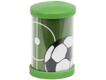 Lampe veilleuse LED Soccer push motif football hauteur 10,9 cm 1W vert, noir et blanc