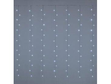 LOTTI Rideau lumineux 182 LED 5 mm - Blanc froid - Contrôleur 7 jeux de lumière + 1 fixe - L 300 x H 152 cm