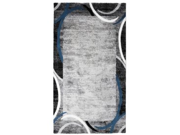 SUBWAY ENCADRE Tapis de couloir en polypropylène - 80 x 150 cm - Bleu