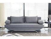 Banquette convertible TEIJO 3 places - Tissu gris - Contemporain - L187 x P 91 x H 82 cm