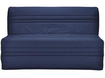 JOÉ Banquette BZ 3 places - Tissu bleu marine - Contemporain - L 143 x P 97 cm