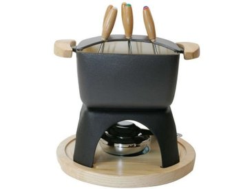 BAUMALU 385072 Service à fondue carré 16 x 16 cm - Noir