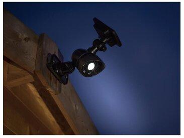 GALIX Spot à énergie solaire très éclairante à détecteur de présence - 100 Lm - H 38,5-26,7 x 6,5 x 10,5 cm
