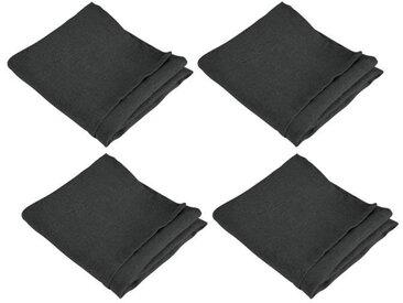 VENT DU SUD 4 Serviettes de table SYMPHONIE en lin - 50 x 50 cm - Gris Gris anthracite